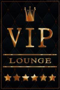 Bild Retro Blechschild VIP Lounge 30 x 20 cm Wandbild Bilder 2302
