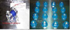 "BLUE YAMAHA BLASTER EXHAUST CLAMP and LUG NUT SET YFS 200 1""ID (Dress up kit)"