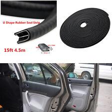Car Waterproof 4.5m Door Edge Pinchweld Strips Rubber Weatherstrip Seal U Shape
