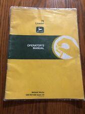 .John Deere 75 Loader OMW21459 Operator's Manual