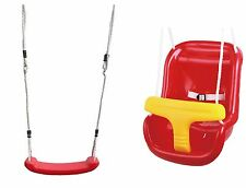 Baby Swing Seat with Childrens Garden Swing Seat Red Toddler / Kids Tree Swings