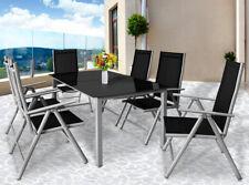 Conjunto de 1 Mesa y 6 sillas Bern con respaldo reclinable para jardín