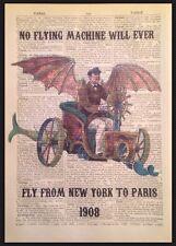 Steampunk Vintage Volant Machine Imprimé Dictionary Page Décoration Murale Image