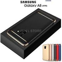 COVER per Samsung Galaxy A8 2018 CUSTODIA PROTEZIONE 360° RIGIDA Antiurto Slim