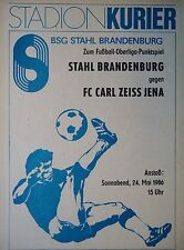 Programme 1985/86 Steel Brandenburg-CZ Jena