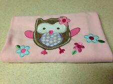 Garanimals Owl Blanket Pink Girls Blankie Lovey Birds Blue