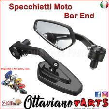 """7/8"""" 22mm Specchio Moto Retrovisori Universali Bar End Specchietti M87"""