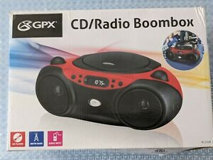 BOOM BOX AM/FM CD Player w/ Radio Stereo Speakers AUX LCD Programmable NEW RED