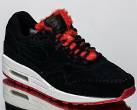 Nike WMNS Air Max 1 Premium women lifestyle sneakers NEW black red 454746-010