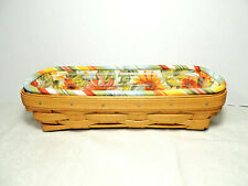 Longaberger 2008 Cracker Basket Combo w Sunflower Liner Hard Protector Euc