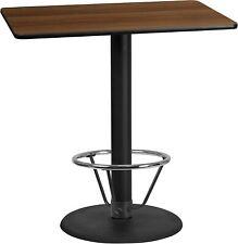 30x45 Rectangular Walnut WA Laminate Table-RDBase New