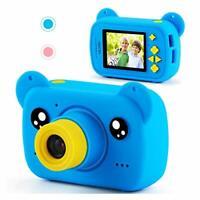 AILEHO Kids Camera for Boys Blue Bear Children Toy - Blue