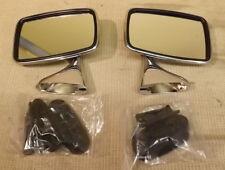 Classic Mini Chrome Porte Miroirs (paire de) - verre plat-CMR-38