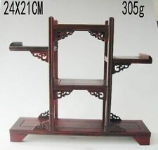 Chinese suanzhi wood carved put small curio stand/shelf or display SA01