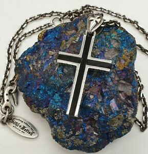 """SOUL FETISH VINTAGE STERLING SILVER 925 CROSS NECKLACE BY THIERRY MARTINO 23.5"""""""