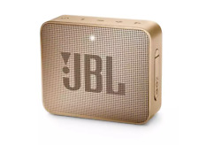 JBL GO 2 Waterproof Ultra Portable Bluetooth Speaker (Champagne)