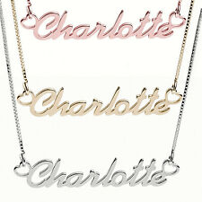 Personalised 925 Silver ANY NAME Customise Necklace Silver,Yellow Gold Rose Gold