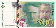 BILLET BANQUE 500 Frs pierre et marie CURIE 1994 SUP 409