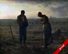 HUMBLE FARMERS PRAYING IN THEIR FIELD PLANTING PAINTING ART REAL CANVAS PRINT