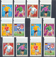 Ajman 1970 Football. WC, 2 sets - PERF. Overpr. + IMP. MNH