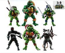 6PCS Teenage Mutant Ninja Turtles Anime Moving Action Figures Toy Set 4.7 Inch
