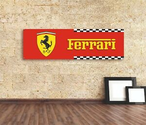 FERRARI SJ  Sign Vinyl Banner Flag  Garage Workshop Adversting Many Size
