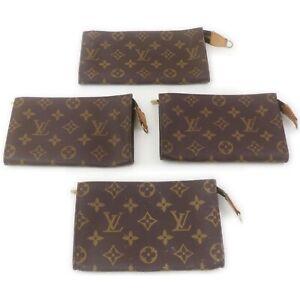 Louis Vuitton Monogram Cosmetic Pouch 4 pieces set 521053