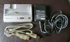 Mint Casio Exilim Ca-24 Camera Cradle Dock w/ Casio Ad51J Adapter, Usb Cable