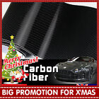 30cm x 1.27M 5D Black Carbon Fibre Fiber Vinyl Car Wrap Air Release Film