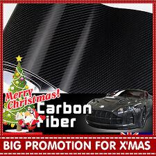 2pcs 30cm x 1.51M 4D Black Carbon Fibre Fiber Vinyl Car Wrap Air Release Film