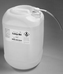 DRUM OF ODOURLESS INDOOR/OUTDOOR CLEARCRAFT LAMP OIL WITH FREE PUMP, FILLER BOTT