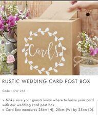 Rustic Wedding Post Card Box
