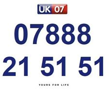 07888 21 51 51 Gold Easy Memorable Business Platinum VIP UK Mobile Phone Number