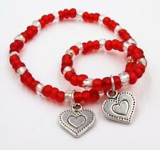"""Valentines Day 18"""" Doll and little girl matching bracelets doll accessory"""