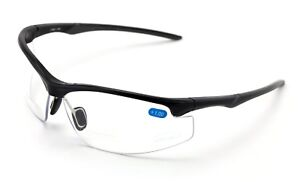 Bifocal Reader Performance Protective Safety Glasses Clear Lens Reading Z87 Cert