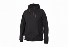 New Fox Collection Black Orange Lightweight Hoodie All Sizes - Carp Fishing