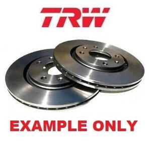 TRW Rear Brake Disc Rotors Set DF6128BS fits Citroen C4 Picasso UD 2.0 HDi 165