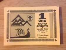14th Jamboree mondiale DELLO SCAUTISMO, Norvegia, 1 NORD Crown-VALIDO PER 2nd AGOSTO 1975