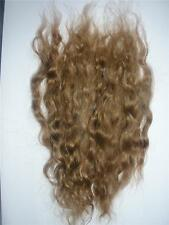 DOLL HAIR WIG MAKING WEFT MOHAIR FAIRY TROLL PUPPET - WAVY  LIGHT AUBURN - 10GMS