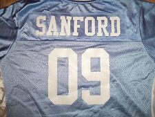 NFL San Diego Chargers #09 Sanford Blue Graphic Jersey Youth XXL