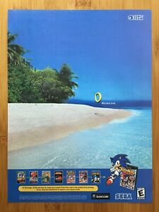 Sonic Mega Collection Gamecube 2002 Print Ad/Poster Original Official Promo Art