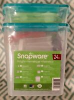 SNAPWARE 24 pc Airtight Leakproof Locking Food Storage Container Set Color NIP