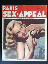 Rare Revue magazine Paris Sex Appeal N° 9 1934 NU Erotisme  BON ETAT