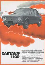 1986 ZASTAVA YUGO 1100 DATENBLATT LEAFLET FRANZÖSISCH