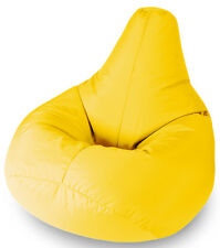 BEANBAGS Garden Furniture Yellow Water Resistant Beanbag Lounger for