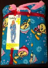 Looney Tunes Winter Tweety Bird Footed Pajamas Footie 1 Piece XL or XXL NEW