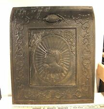 VICTORIAN ORNAMENTAL CAST IRON FIREPLACE INSERT SUMMER COVER WOMAN DRAGONS