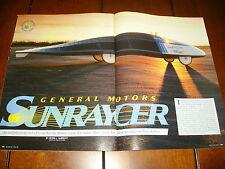 1988 General Motors Sunracer Solar Elecric Car Ev - Original Article