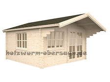 34 mm Gartenhaus Baily 5 Holzhaus Blockhaus Holz Gerätehaus 4x4 m + Fussboden