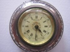 Billodes Zenith Sterling Pocket Watch Forget Me Not Dial Swallow Bird Engraving!